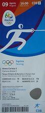 TICKET Olympia Games Rio 9.8.2016 # Fechten Fencing # C08