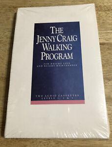 Jenny Craig Walking Program  - 2 Audio Cassettes - Levels 1, 2 and 3 - SEALED
