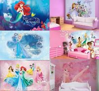 Photo Wall Mural wallpapers KIDS ROOM DISNEY Frozen Princess Elsa Ariel girls