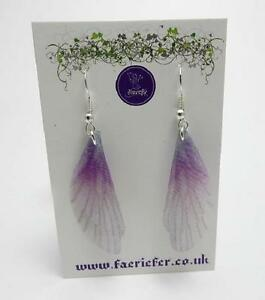 Fairy Wing Earrings enchanting faerie jewellery organza choice of colour + metal