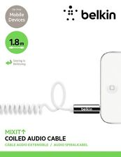 Belkin MixIt 3.5MM Audio Coiled Cable AUX for iPhone Smartphone Tablet 1.8m WHT