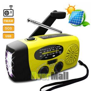 Emergency Weather Radio Portable Survival Solar Hand Crank AM FM NOAA Radios