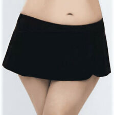 Captiva Womens Plus Size 3X Black Swim Skirt Skirted Brief Bikini Bottom