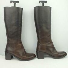 Hobbs Leather Boots Size Uk 3.5 Eur 36.5 Womens Textured Pull on Brown Boots