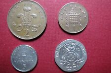 GREAT BRITAIN/U.K.  Mixed Lot of 4 Coins,  10 PENCE, 5 PENCE, 2 PENCE & 1 PENCE
