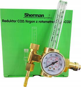 Sherman® Druckminderer Argon CO2 Regulator Druckregler Flowmeter Rotameter