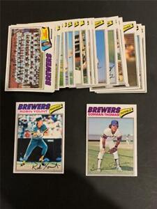 1977 Topps Milwaukee Brewers Team Set 24 Cards