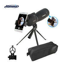 Zoom 25-75X70 Angled Spotting Scope Waterproof With Tripod & Phone Adapter