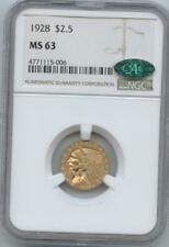 1928 $2 /12 INDIAN NGC MS63 CAC