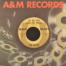 """7"""" TINA LESTER Let Me Stay With You Tonight TROY TUCKER BACK FORTY rare Country!"""