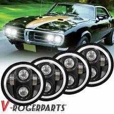 "4PCS 5.75 5-3/4"" Round LED Headlights DRL for 1963-1982 Chevy GMC Corvette C1 C2"