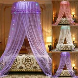 Bed Mosquito Net Bedding Lace Princess Dome Mesh Bed Canopy Bedroom Decor 3Color