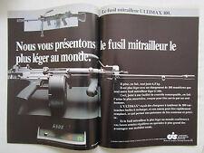 5/86 PUB CIS SINGAPORE INDUSTRIE FUSIL MITRAILLEUR ULTIMAX 100 GUN FRENCH AD