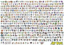 694 pokemon characters upgrade poster - personalised