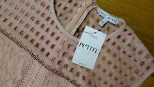 New Next Petite bodycon style sleeveless dusty pink dress size UK 16