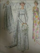 Vtg 60's Simplicity 6352 WEDDING DRESS EMPIRE WAIST BRIDAL Sewing Pattern Women