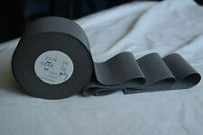 "10 yard roll 2"" steel grey  00004000  vtg cotton rayon petersham ribbon millinery hat"