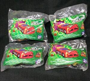 2001 Wendy's Toys NASCAR Racers McCutchen Johnson Rey Fassler - SEALED Lot of 4!