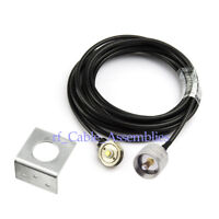 Vehicle CB Mobile Radio Antenna Adapter NMO Mount L-Bracket PL-259 Male Cable 3m