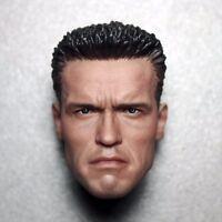 """Custom 1/6 Scale Arnold Schwarzenegger 2 T800 Head Sculpt For 12"""" Figure Body"""