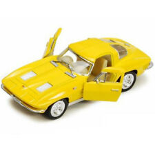 Kinsmart 1963 Chevrolet Corvette Stingray Diecast Car 1:38 KT5358D Yellow