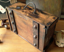 Escape Room Industrial Steampunk Cosplay Prop  Wooden Box Crate Trunk Upcycled.