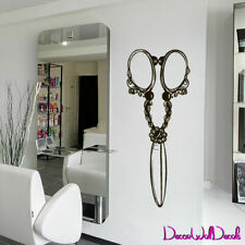 Wall Decal Hair Salon Scissors Retro Curls Beauty Hair Stylist Bedroom M1587