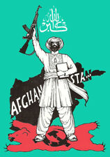 Soviet Afghan War propaganda poster Soviet Union Afghanistan communist sssr art