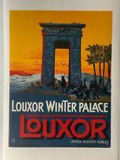 Louxor Winter Palace Vintage luggage label Upper Egypt Hotels