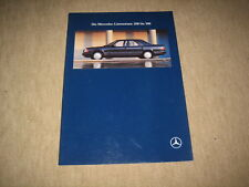 Mercedes E-Klasse 200 - 300 Limousine W124 Prospekt Brochure 3/1991, 46 Seiten