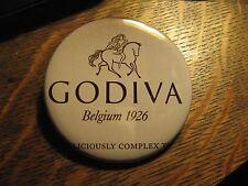 Godiva Chocolate Belgium Luxury Candy Advertisement Logo Pocket Lipstick Mirror