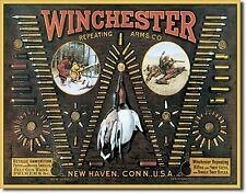 Winchester Rifle Shotgun Shells Metal Sign Tin New Vintage Style USA #942