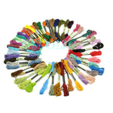 50x Cross Stitch Bead Cotton Blend Embroidery Skein Floss Sewing Thread
