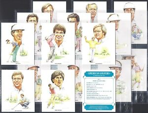 IMPERIAL PUBLISHING-FULL SET- AMERICAN GOLFERS (L20 CARDS) JACK NICKLAUS - MINT