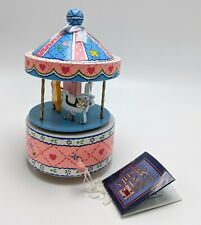 Vintage Schmid Carousel Music Box New With Tags Nwt 1984