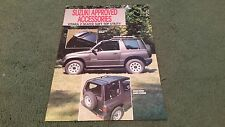 July 1989 SUZUKI VITARA 2 SEAT SOFT TOP UTILITY ACCESSORIES UK LEAFLET BROCHURE
