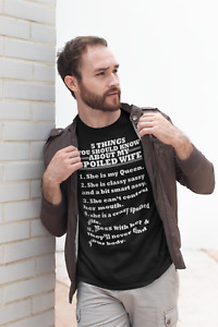 Husband Anniversary Gift 5 THINGS, YOU SHOULD KNOW ABOUT MY SPOILED WIFE T-shirt