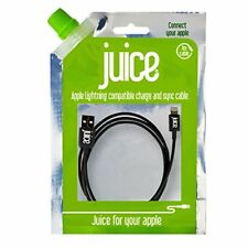 Juice Apple Lightning Compatible Charge & Sync Cable 1m Black For iPad & iPhone
