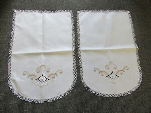 """Pair of Chair/ Sofa back Covers/ Protectors """"Linen/Cotton"""" Appr.23 inch down X15"""
