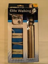 Sportline Elite Walking Fitness Kit - Pedometer/Calorie/Water Bottle/Weights New