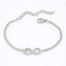 Women Chic Cross Infinite Bracelet Bangle Chain Bracelets Gold Silver Jewelry CH