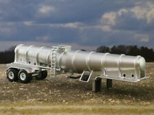 1/64 Custom Liquid Fertilizer Chemical Tank Semi Trailer Tandem White Wheels