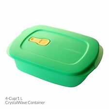 Tupperware CrystalWave 1L Container in Lime Green