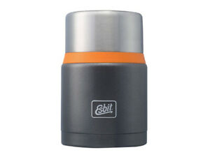 ESBIT thermos 0.75L gray orange Hot Food Container stainless steel + spoon