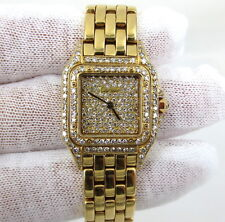 Estate Cartier Panthere Panther Diamond Dial 18K Yellow Gold Lady's Watch