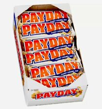Pay Day Peanut Caramel Candy Bar 1.85 oz Each 24 Ct Bars PayDay Fresh