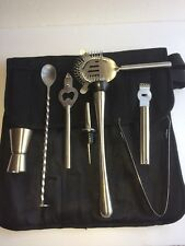 Bartender Kit Cocktail Set 8 Piece With Case Stainless Steel