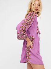 NWT FREE PEOPLE STARLIGHT EMBROIDERED BOHO MINI DRESS TUNIC SIZE XS XSMALL $168