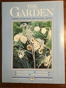 THE ROYAL HORTICULTURAL SOCIETY THE GARDEN JOURNAL DECEMBER 1994 VOL 119 PART 12