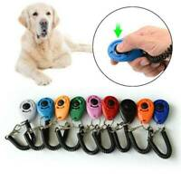 UK Dog Training Clicker Click Button Trainer Pet Cat Puppy Obedience Aid Wrist
